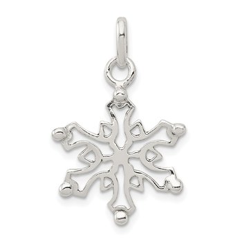 Sterling Silver Polished Snowflake Pendant