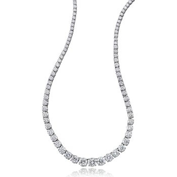 "15.12 tcw. 18"" Straight Diamond Necklace"