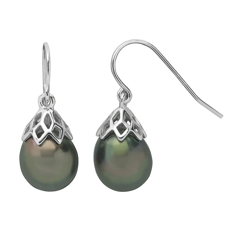 Imperial Pearl Sterling Silver Tahitian Pearl Earrings
