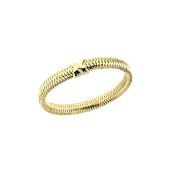 18KT GOLD MESH X BANGLE