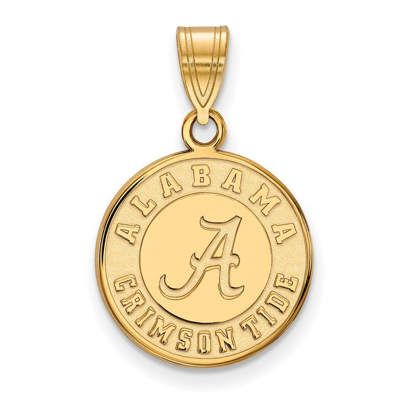NCAA Gold-Plated Sterling Silver University of Alabama NCAA Pendant