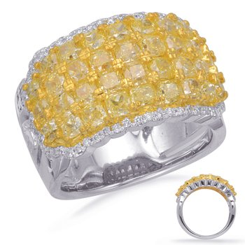 Yellow White & Yellow Dia Fashion Ring