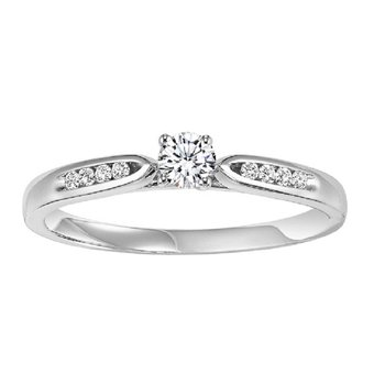 14K Diamond Engagement Ring 1/4 ctw complete