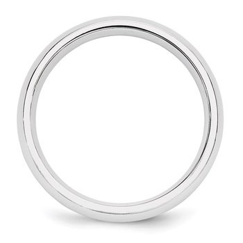 14k White Gold 5mm Comfort-Fit Band