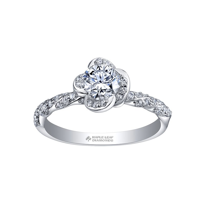 Maple Leaf Diamonds Maple Leaf Diamonds™ Wind's Embrace™ Ladies Engagement Ring