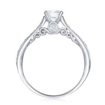 The Happy Diamond Scroll Ring II