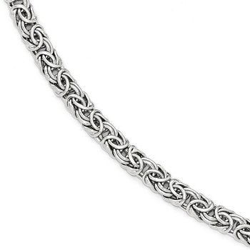 Leslie's 14k White Gold Polished Fancy Link Bracelet