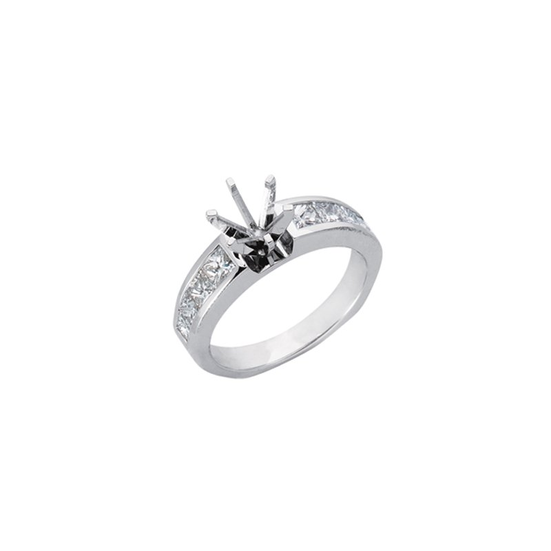 S. Kashi  & Sons Platinum Engagement Ring