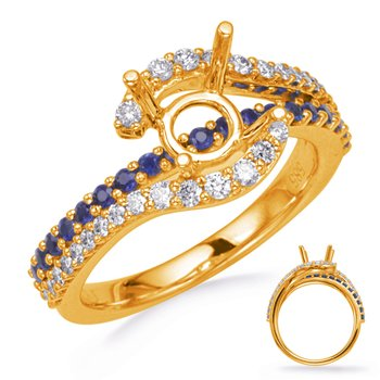 Yellow Gold Sapphire & Diamond Engagemen