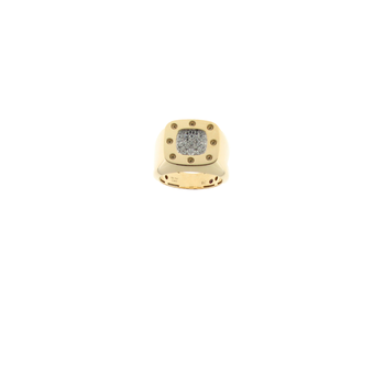 18Kt Gold Diamond Signet Ring