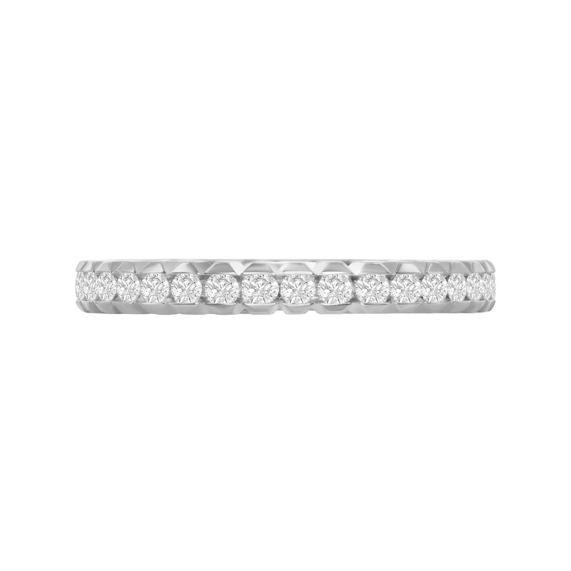 Veer Diamonds HALF-MOON BEZEL BAND