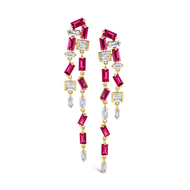 KC Designs Ruby & Diamond Double <i>Modern</i> <b>Stiletto</b> Set in 14 Kt. Gold