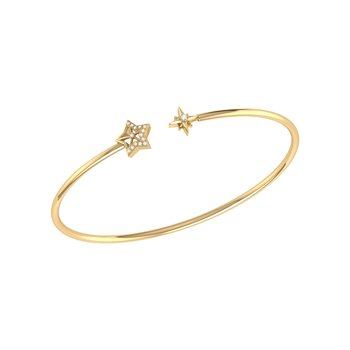 Starry Night Cuff in 14 KT Yellow Gold Vermeil on Sterling Silver