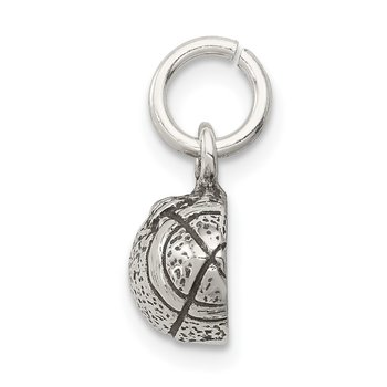 Sterling Silver Antiqued Football Charm