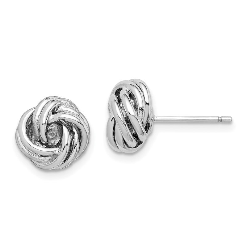 Quality Gold Sterling Silver Rhodium-plated Love Knot Post Earrings