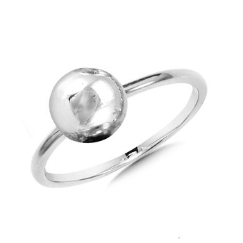 Sterling Silver Solitaire Ball Ring