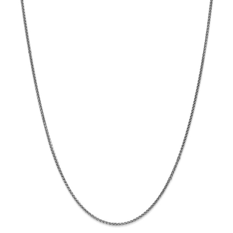 Leslie's Leslie's 14K White Gold 1.4mm Solid D/C Spiga Chain