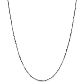 Leslie's 14K White Gold 1.4mm Solid D/C Spiga Chain