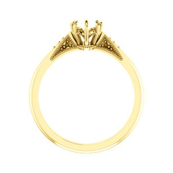 18K Yellow 7x5 mm Oval 8-Prong Engagement Ring Mounting