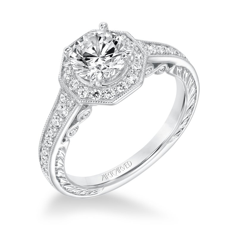 ArtCarved ArtCarved Perla Diamond Engagement Mounting