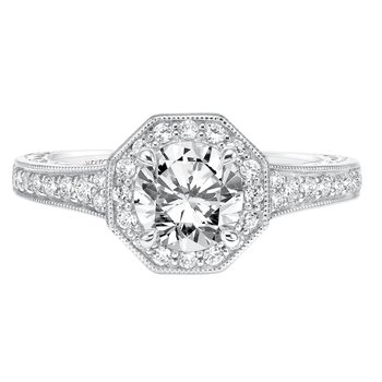 ArtCarved Perla Diamond Engagement Mounting