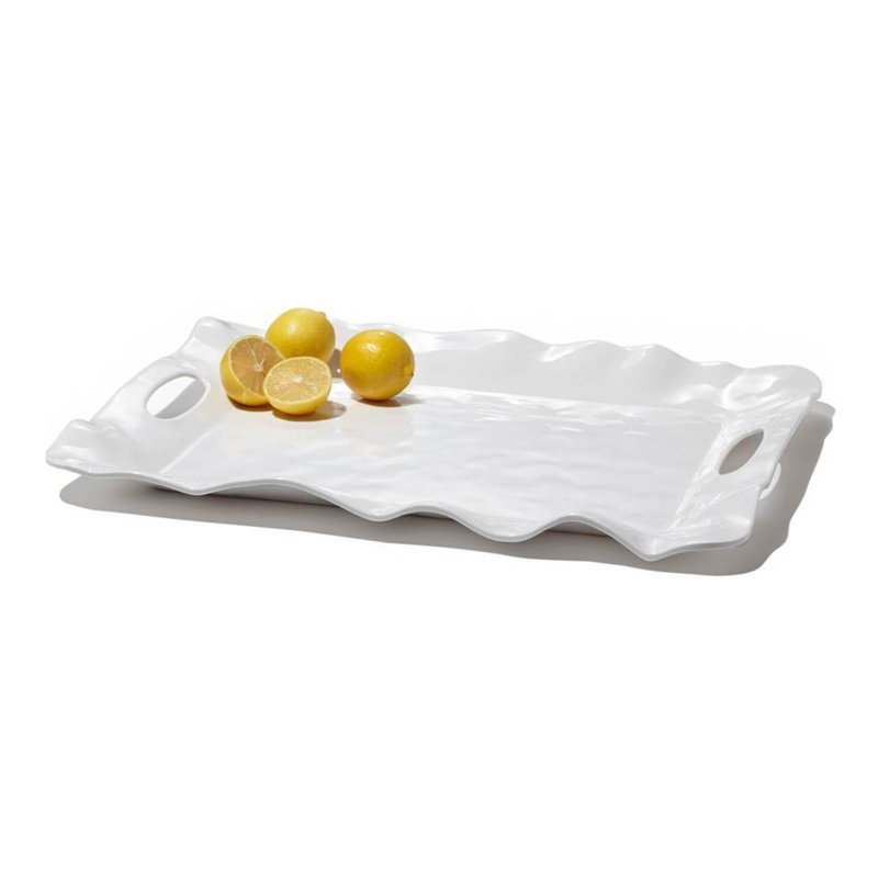 Beatriz Ball Havana rect tray w/handles white