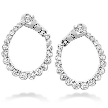 2.1 ctw. Aerial Regal Diamond Hoop Earrings
