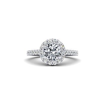 Round Diamond Halo Design Engagement Ring