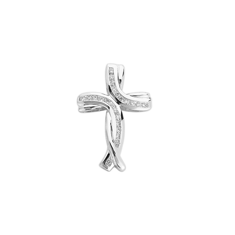 Briana White Gold Cross Pendant