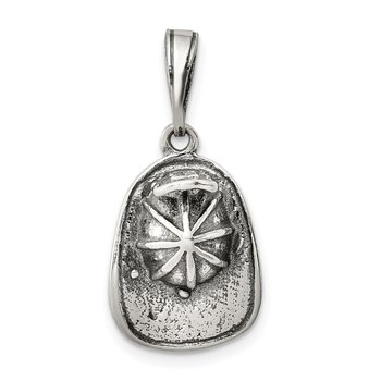 Sterling Silver Antiqued Fireman's Helmet Charm