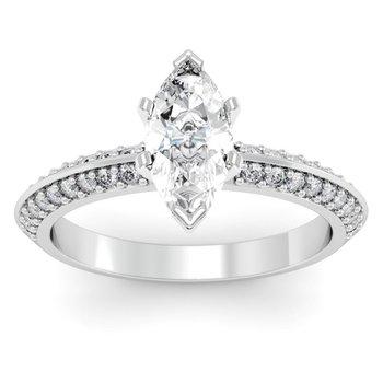 Knife Edge Engagement Ring