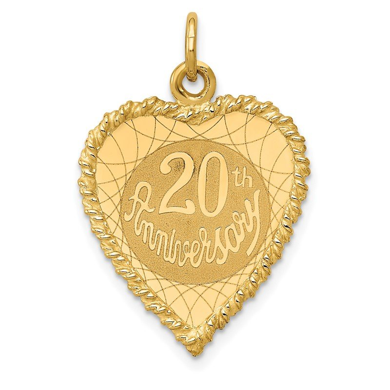 J.F. Kruse Signature Collection 14K Happy 20th ANNIVERSARY Charm