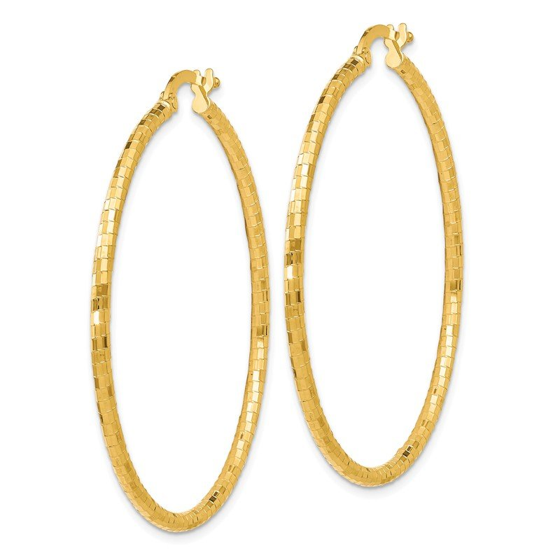 Leslie's Leslie's 14K Polished and Textured Hoop Earrings