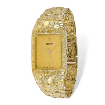 10k Champagne 27x47mm Dial Square Face Nugget Watch