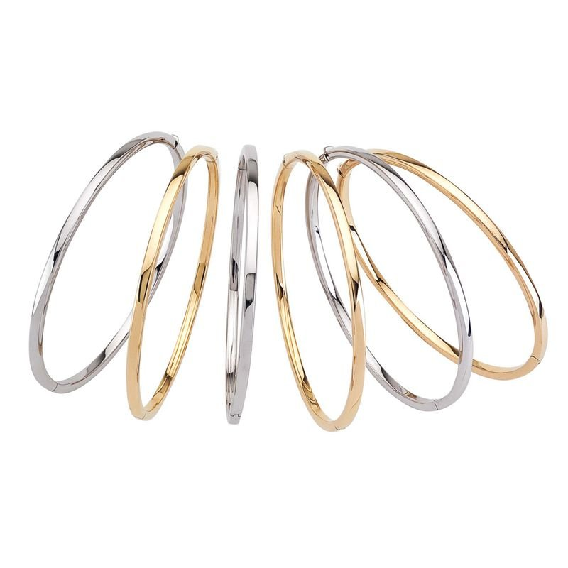 Roberto Coin Oval Bangle &Ndash; 18K Yellow Gold