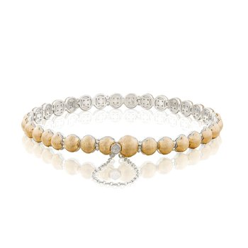 Brushed Petite Dew Drops Bracelet