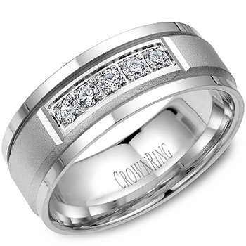 CrownRing Men's Wedding Band WB-8038
