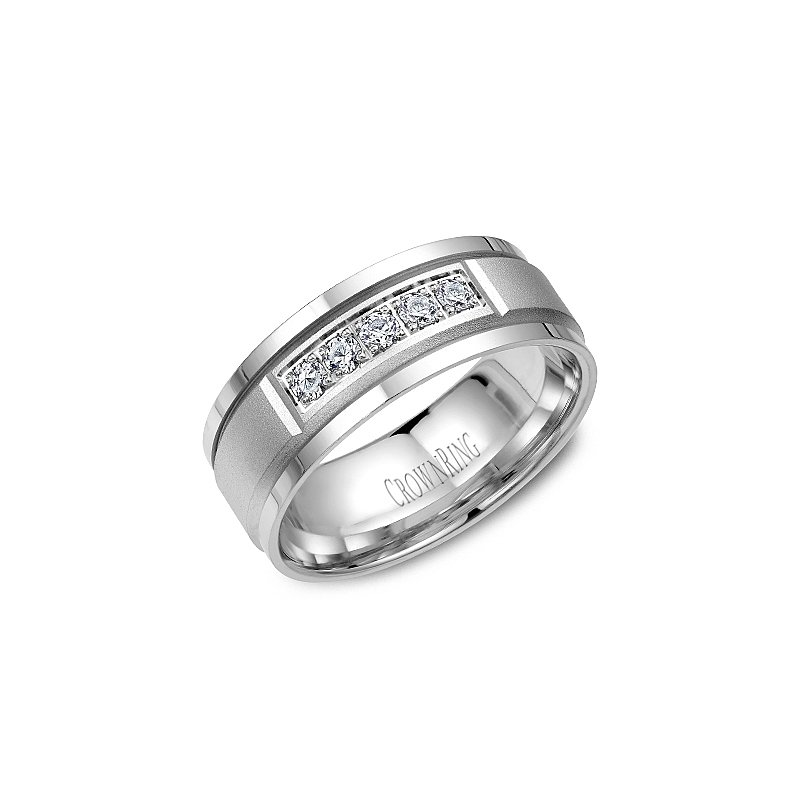 CrownRing CrownRing Men's Wedding Band WB-8038