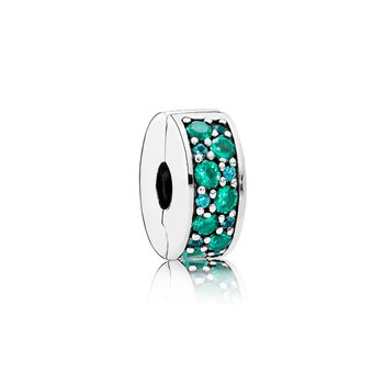 Mosaic Shining Elegance, Multi-Colored Crystals Teal Cz