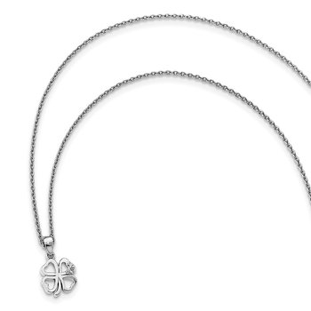 SS White Ice Diamond Clover Necklace