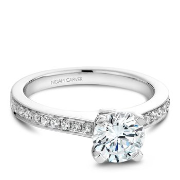 Noam Carver Modern Engagement Ring B039-01A