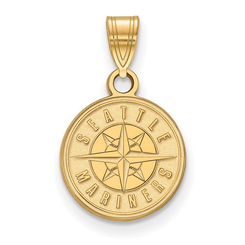 MLB Gold-Plated Sterling Silver Seattle Mariners MLB Pendant