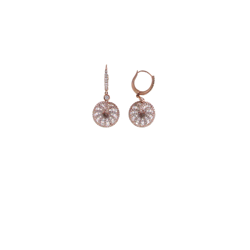 Roberto Coin 18Kt Rose Gold Diamond Earrings