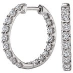 Tesoro Diamond In and Out Hoops