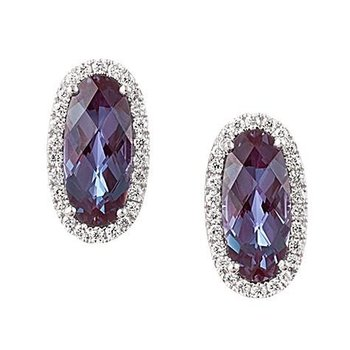 Alexandrite Earrings-CE3828WAL