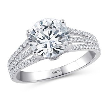 14K 0.38Ct Diam Semi Mount