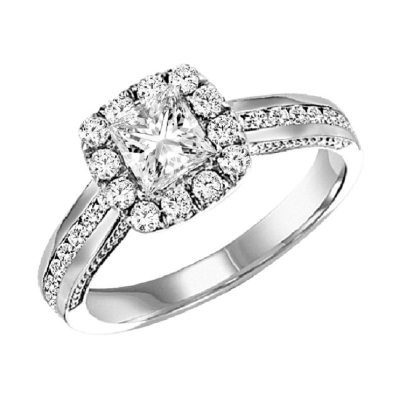 Bridal Bells 14K Diamond Engagement Ring 1/2ctw
