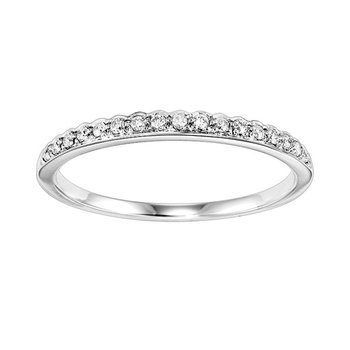 Diamond ¼ Eternity Asymmetrical Band in 14k White Gold