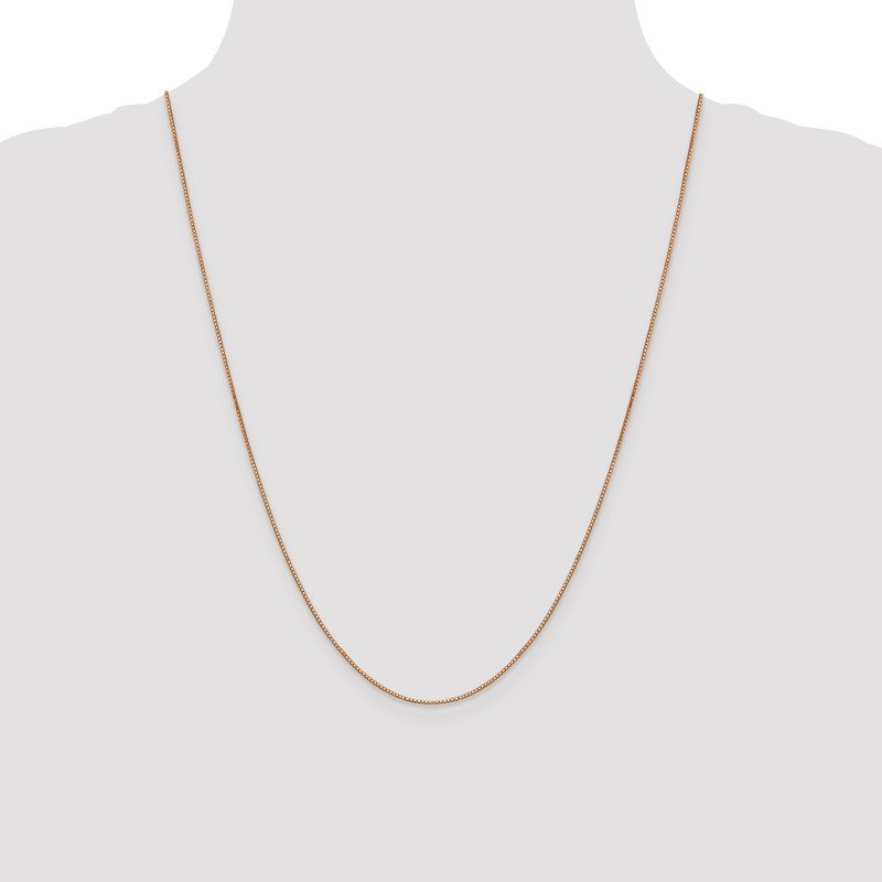 Quality Gold 14k Rose Gold .9mm Box Link Chain Anklet
