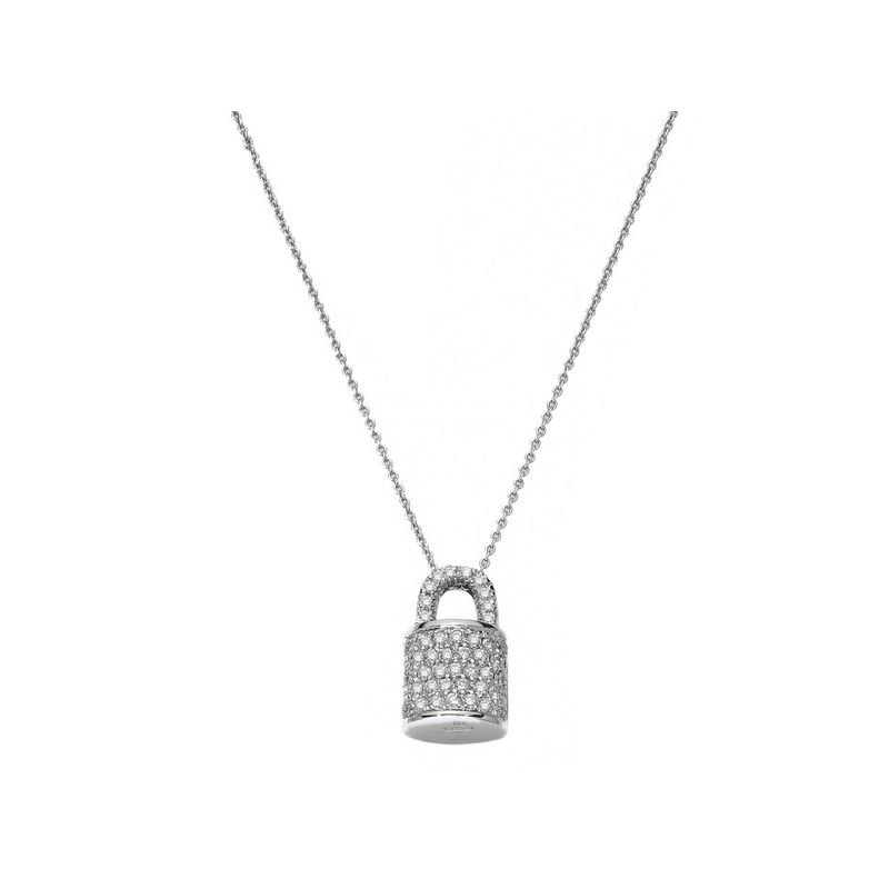 Roberto Coin 18Kt Gold Lock Pendant With Diamonds